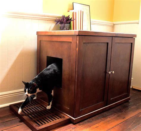custom litter box cabinets refined feline wooden litter box cabinet the green head