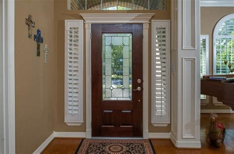 side light shades shutters for sidelight windows traditional entry by