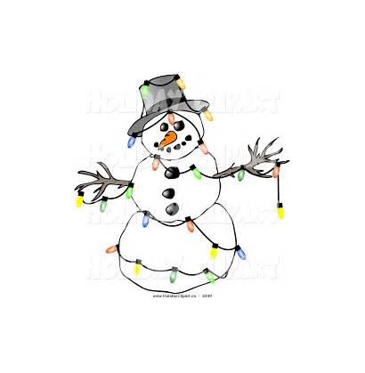Snowman Clipart Clip Holiday Winter Festive Borders