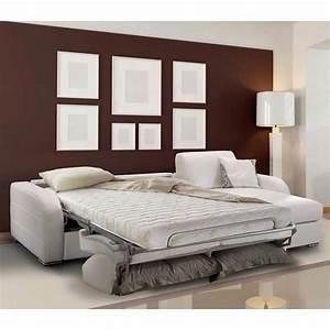 Canapé D Angle Convertible Blanc : canap d 39 angle convertible blanc meubles et atmosph re ~ Teatrodelosmanantiales.com Idées de Décoration