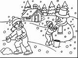 Snow Coloring Pages Landscape Winter Getdrawings Sheets sketch template