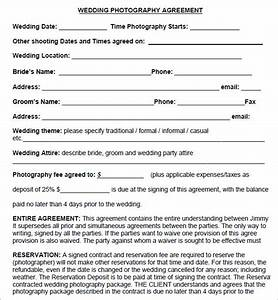 photography contract 7 free pdf download sample templates With how to make a wedding photography contract