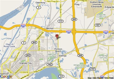 map of 8 motel pontoon il st louis mo area