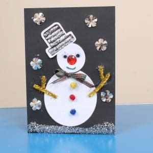 christmas card craft idea  children early years