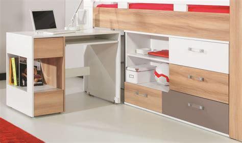 lit bureau combiné lit avec bureau et commode puzzle lit combin enfant et