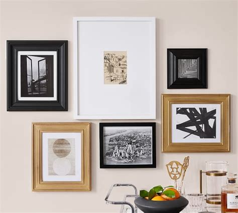 pottery barn gallery in a box gallery in a box frames gold black white pottery barn