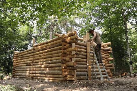 determined folks built   log cabins