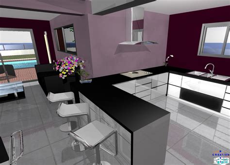 cuisine ouvert sur salon stunning cuisine et salon moderne ideas design trends 2017