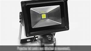 Projecteur Led Detecteur : projecteur led cam ra tanche 10w avec d tecteur de ~ Carolinahurricanesstore.com Idées de Décoration