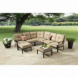 7 piece sectional sofa mainstays sandhill 7 piece With sandhill 7 piece outdoor sofa sectional set seats