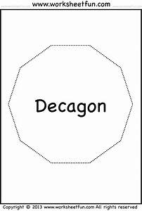 Decagon Shape With 10 Sides Sketch Coloring Page