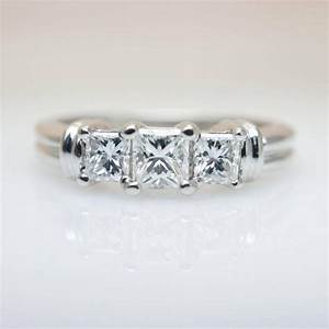 15 best collection of 3 band engagement rings With wedding bands that go with 3 stone rings