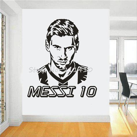 stickers garcon chambre football team logo wall sticker messi vinyl wall