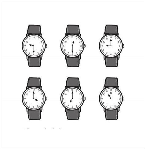 17+ Printable Clock Templates - PDF, DOC | Free & Premium ...