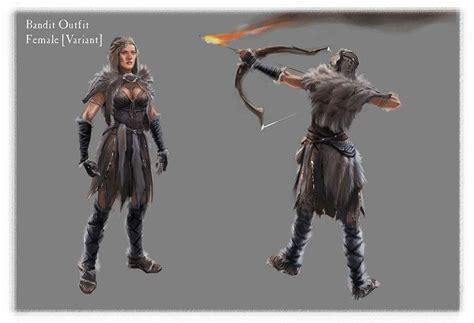 Concept Art Of Female Bandit From The Elder Scrolls V