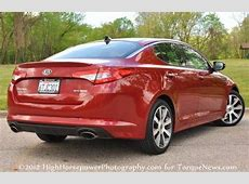 The 2012 Kia Optima SX from the rear Torque News