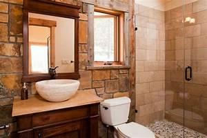 Naturstein Waschbecken Mit Unterschrank : 105 badezimmer design ideen stein und holz kombinieren ~ Bigdaddyawards.com Haus und Dekorationen
