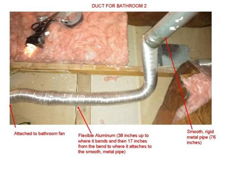 Do Duct Free Bathroom Fans Work by Suggestions For Reducing Elbowing For Aluminum