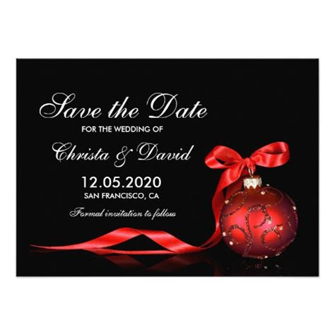 christmas wedding save the date templates card zazzle