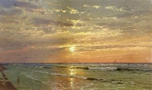 """Sunrise, Atlantic City"" William Trost Richards 