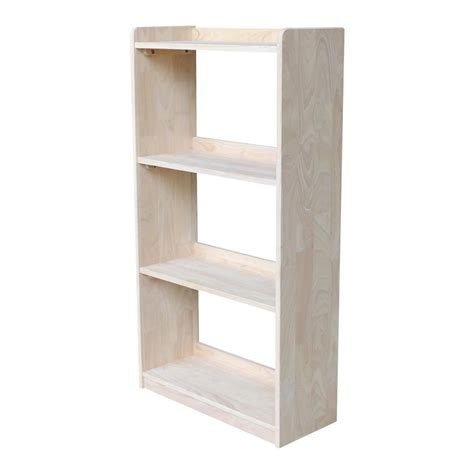 Unfinished Bookcase by International Concepts Abby 50 In H Unfinished Bookcase