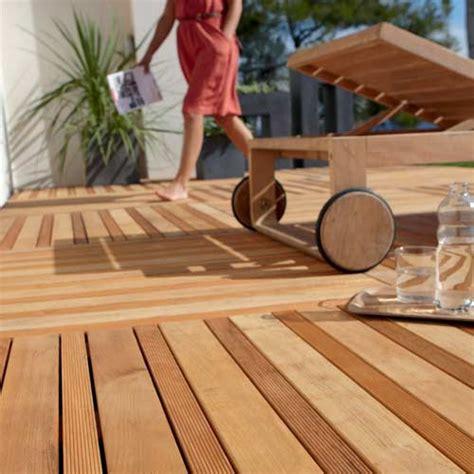 dalle en bois pour terrasse terrasse et sol ext 233 rieur jardin leroy merlin
