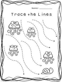 prewriting worksheets ocean theme  teaching sensory