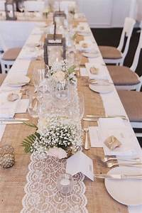 15 rustic lace and burlap wedding ideas to love page 2 With wedding decorations table runners