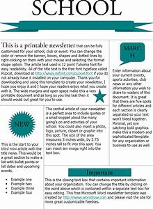 microsoft newsletter templates download free premium With printed newsletter templates
