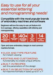 monogramming software for embroidery machines home With els embroidery lettering software