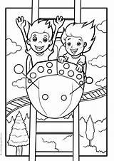 Park Coloring Pages Amusement sketch template