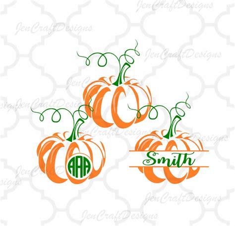 Interested in making your own svgs? Pumpkin SVG Cut Files. Monogram Frame Fall Designs Cricut