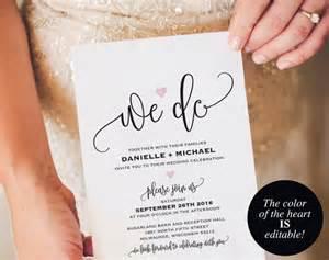etsy wedding invitations we do wedding invitation template wedding invitation