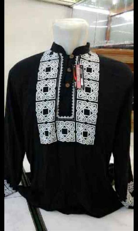 baju koko warna hitam lengan panjang terbaru ryn