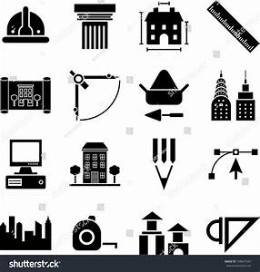 Architecture Construction Buildings Tools Icons Stock ...