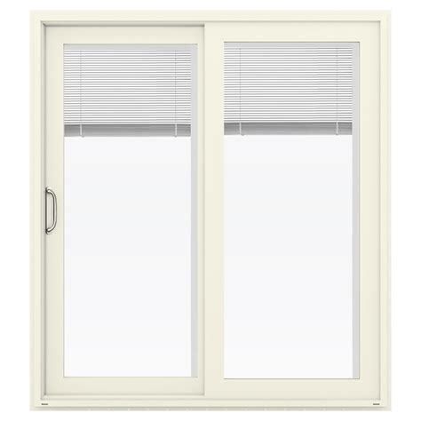 lowes patio doors with blinds shop jeld wen v 4500 71 5 in x 79 5 in blinds between the