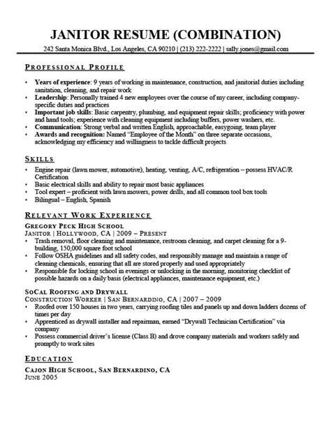 Exles Of Combination Resumes by Combination Resume Sles Resume Companion