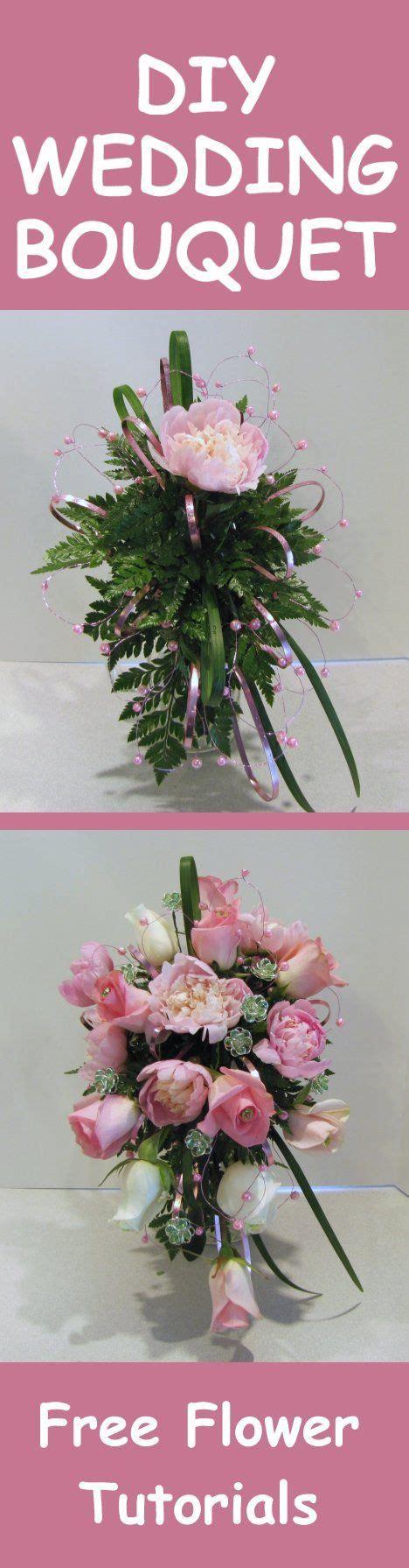 peony wedding bouquet tutorial easy diy wedding flowers