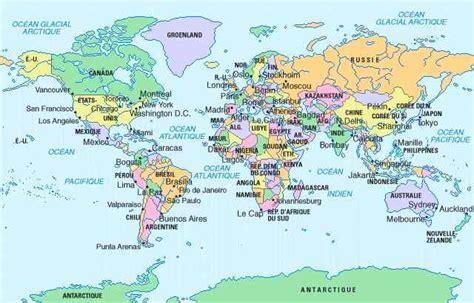 Carte Du Monde Avec Nom Des Pays Et Océans by Cartograf Fr Toutes Les Cartes Des Pays Du Monde