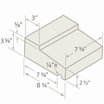 Window Sill Dimensions by Tileco Inc Window Sills Concrete Masonry Units