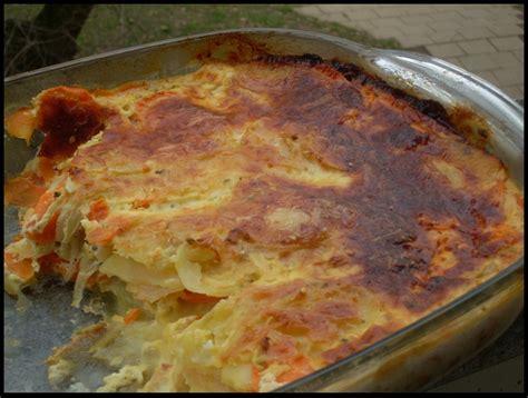 gratin de carottes et pommes de terre au boursin aux