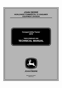 John Deere 2210 Compact Utility Tractor Service Technical