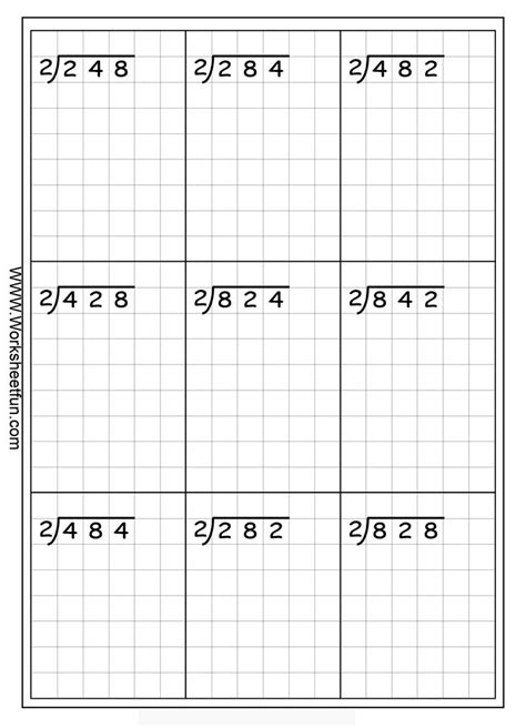long division  digits   digit  remainder