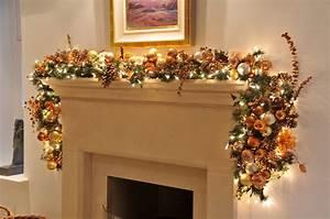 Christmas Fireplace Garland Ideas