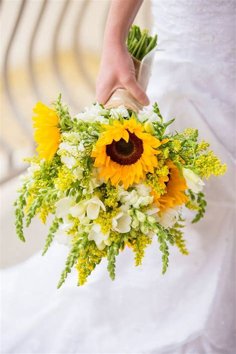 Sunflower Bouquet Flowers Wedding Flowers Pinterest