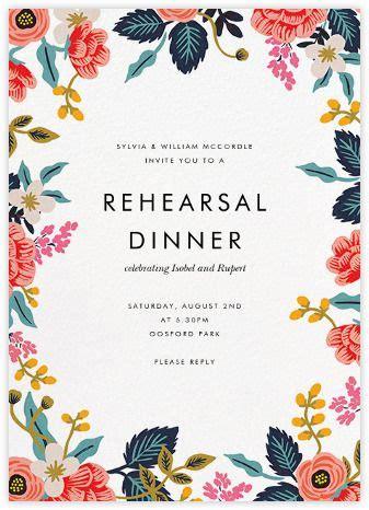 rehearsal dinner invitations   paper