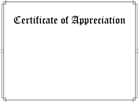 Template For A Certificate Of Appreciation by Mattwins Certificate Of Appreciation Blank Template