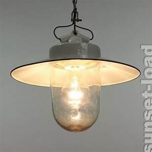 Lampe Mit Eigenen Fotos : alte industrie lampe porzellan emaille glas innen au en ~ Lizthompson.info Haus und Dekorationen