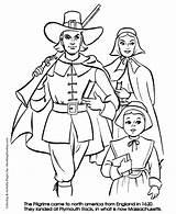 Thanksgiving Coloring Pilgrim Pages Pilgrims Sheets Boy Getcoloringpages Cartoon Jamestown Honkingdonkey sketch template