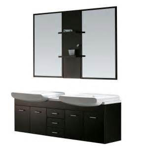 vigo double sink vanity with counter mirrors shelves at